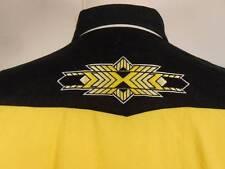 Nice Men's Large Panhandle Slim Colorful Crisp Long Sleeve Snap Button Shirt GUC