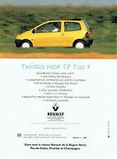 Publicité Advertising 120 1994   Renault   la Twingo pack