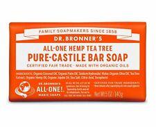 DR BRONNER FAIRTRADE PURE TEA TREE CASTILE SOAP 140g - CRUELTY FREE