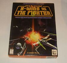 STAR WARS X-Wing Vs. Tie Fighter LucasArts PC CD-Rom Game 1997 Manual Big Box