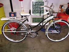 RESTORED 1950's J.C. HIGGINS TEXACO DELIVERY BICYCLE/BEAUTIFUL/NEW TIRES/ORIG