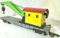 American Flyer No. 635 Die Cast Flatbed & Crane Brass Weight Link Couplers