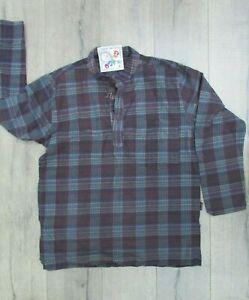 Gringo Fairtrade Black Long Sleeve Cotton Shirt Size S/M