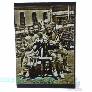 """Matted 8""""x6"""" Old Photograph wheelbarrow in Late Qing Dynasty China before 1900s"""