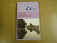 BIBLIOTHEEK LAATSTE NIEUWS N° 27 / HERMAN TEIRLINCK - MARIA SPEERMALIE