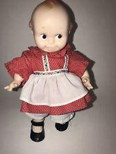 "Vtg CAMEO 12"" KEWPIE DOLL Red White Polka Dot Dress Pinafore Outfit NoJo No Jo"
