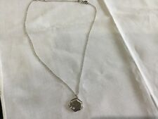 Plated Necklace With Spinning Truth/Dare Pendant Juicy Couture New & Gen. Silver