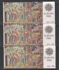 Europa Cept 1985 Greece booklet  (3x) ** mnh (A1599A)