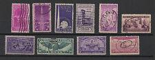 U.S.A. États-Unis 1938-40 10 timbres oblitérés  /T2021