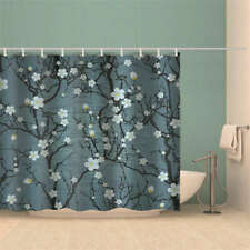Snowflakes Simple Fall 3D Shower Curtain Waterproof Fabric Bathroom Decoration