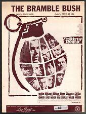 The Bramble Bush 1967 Lee Marvin The Dirty Dozen Sheet Music