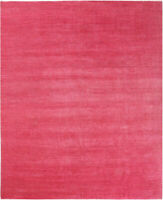 8X10 Hand-Knotted Oushak Carpet Traditional Red Fine Wool Area Rug D55598