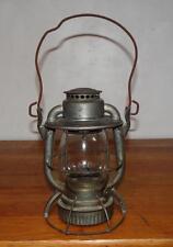 "Antique ""WESTERN MARYLAND RAIL YARD"" DIETZ RR RAILROAD Etched Glode LAMP LANTERN"