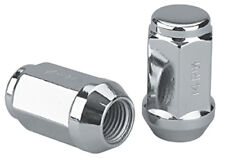Set of 24 Chrome 14x2 Bulge Acorn Long Closed Ended Lug Nuts 2000-2011