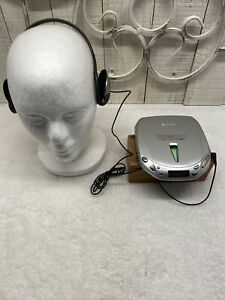 Sony Discman ESP2 D-E451 Compact CD Player w/Sony Headphones Tested Works Great