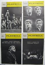 4 Playbill Theater Programs 1963 - Oliver! Funny Thing/Forum, Beyond Fringe, etc
