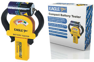 Eagle Compact Universal Battery Tester Checker AA, AAA, 9V PP3, C, D, N etc