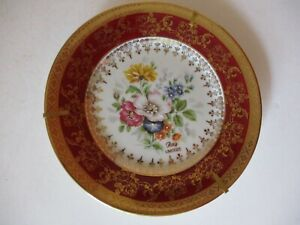 RAY LIMOGES PICTURE PLATE OR. FRANCE REHAUSSE