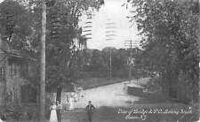 Chews New Jersey Bridge Street Scene Scenic View Antique Postcard K58980