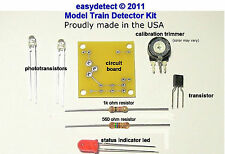 BI-DIRECTIONAL HOn3 SCALE MODEL TRAIN DETECTOR KIT FOR CROSSING FLASHERS & MORE