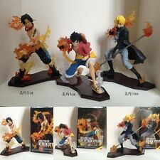 One Piece Luffy Ruffy D.Ace Sabo Anime Manga Figuren Set 3 Stück H:9-14cm Neu