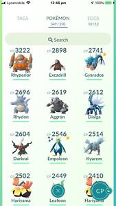 Pokemon Account Go Level 34 -Deoxys,S.Empoleon,Rayquaza,Kyurem - 158K STARDUST