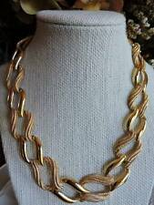 Vintage NAPIER Goldplated Chain Necklace Pat # Double Textured