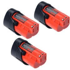 3x For Milwaukee 2.0AH 12V M12 M12B2 C12B 48-11-2401 48-11-2411 Li-Ion Battery