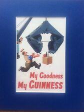 Comic GUINNESS Advertising Advert Man Cave Vintage Retro Bar Pub Mounted Repro