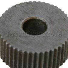 2x 19x6mm Steel Straight 1mm Pitch Linear Knurl Wheel Knurling Roller Tool