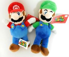 "Mario Bros. Mario and Luigi 2 Plush Doll 12"" New"