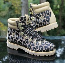 Adidas X Jeremy Scott OBYO Leopard Hiking Boot Men's Size 6.5 Tan Black G96748