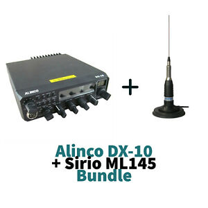 Alinco DX-10 10M 11M CB HAM Multimode Transceiver + Sirio ML145 Antenna Aerial