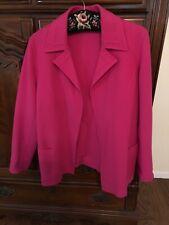 Dana Buchman Bright Pink Ipen Wool Jacket Size 10 EUC!