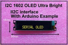 IIC / I2C 1602 16x2 Yellow OLED Module Display - For Arduino / PIC / AVR / ARM