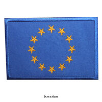EU Europe National Flag Embroidered Patch Iron on Sew On Badge For Clothes etc