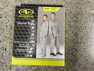 """Athletic Sauna Suit S/M Fits Waist Sizes 24"""" - 32"""" Ready To Ship Bran New"""