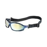 Uvex S0624X Seismic Safety Eyewear, Metallic Blue Frame Anti-Fog Lens/Headband