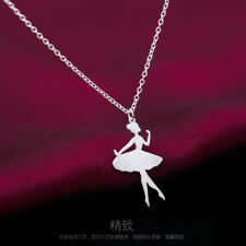 pure 925 silver princesses ballet dancer fashion wedding party charm neckles