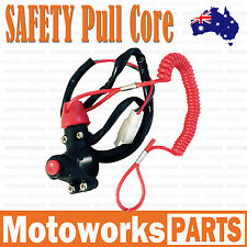 Stop SAFETY Pull Kill Switch Fit PIT PRO PIT Trail Dirt Quad Bike ATV Dune Buggy