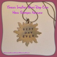 Handmade Disney Tangled Inspired Best Day Ever Stamped Necklace Gift Geeky
