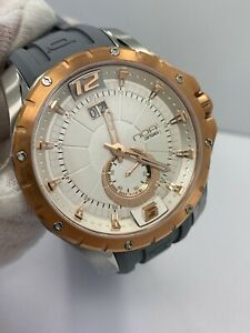 New NOA Skandar Ronda Quartz 45mm Stainless Steel Rose Gold Tone Watch MSRP $599
