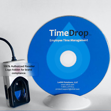 Time Clock Software & 4500 Series Biometric Fingerprint Scanner Reader, TimeDrop