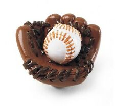 "Cabinet Hardware Drawer Sports Knobs 83030 Baseball in Mitt 1-1/2"" diam"