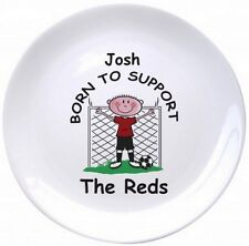 PERSONALISED Novelty FOOTBALL Bone China PLATE Gift Ideas For FAN Him Birthday