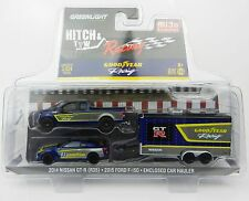 1:64 GreenLight *HITCH & TOW M&J* GOODYEAR Ford F150 Nissan GT-R & Enclosed NIP!