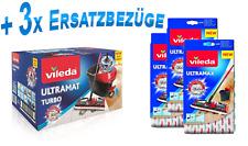 Eimer Wischmop Komplett Set Bodenwischer +3x Ersatz Wisch Bezug - NEU von Vileda