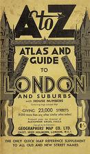 London Street Atlas - Historical Edition by A-Z Map Company (Paperback, 1938)