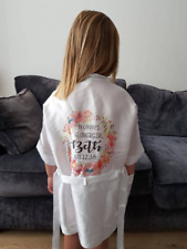 Personalised childrens flowergirl satin dressing gowns / wedding dressing gown