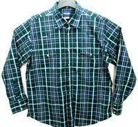 Wrangler Men's Size XL Long Sleeve Pearl Snap Western Shirt Plaid